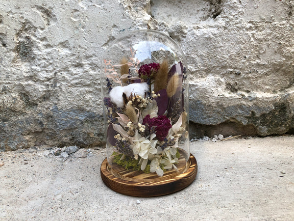 Under The Bell Jar - Dried Peonies