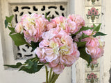 Faux Hydrangea - Powder Pink, Single