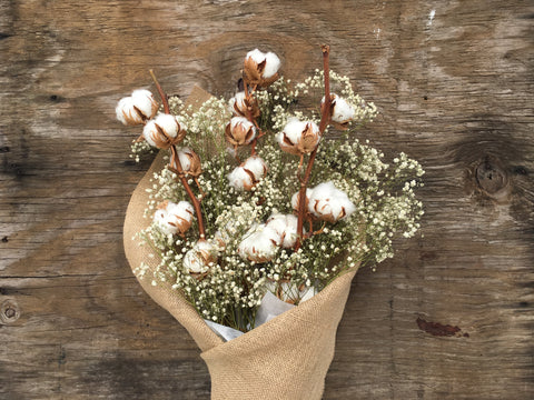 Dried Cotton & Baby's Breath Bouquet