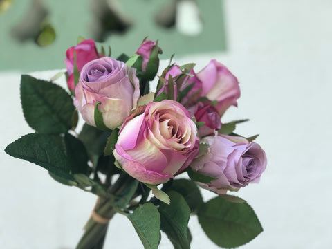 Faux Purple Roses - Rustic Yam