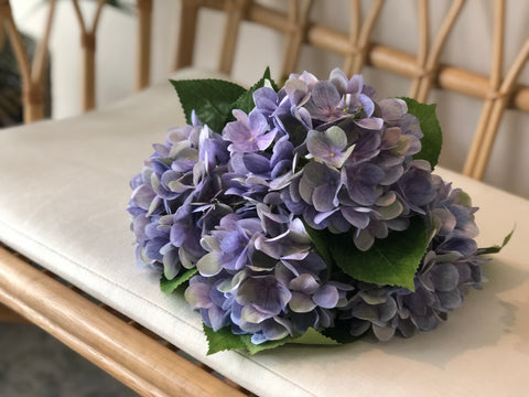 Faux Hydrangea - Dusty Lilac, Single