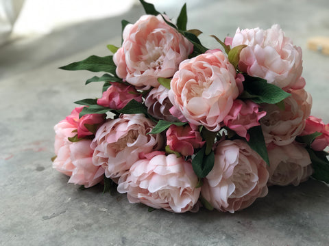 Faux Peonies - Large, Peach Pink