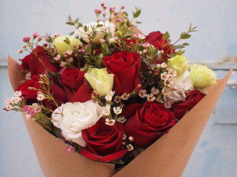 (12-Stalk) One Dozen Roses, Please