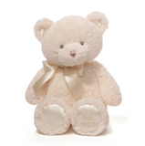 "Gund My First Teddy 10"" (Cream/Pink/Blue)"