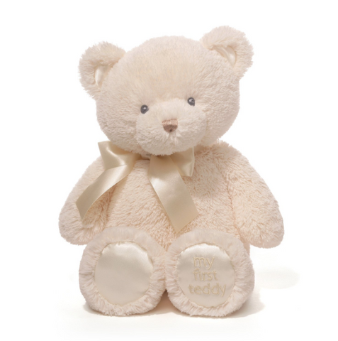 "Gund My First Teddy 10"" (Cream/Pink/Blue/Tan)"
