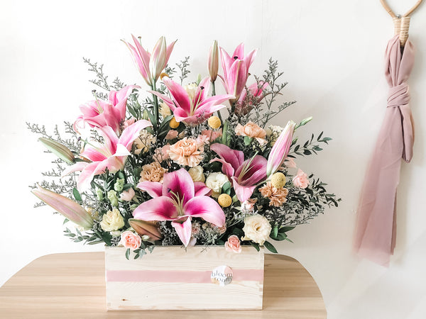 A Box of Pink Lilies