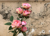 Faux Spray Rose - Miniature Rustic, Other Colours Avail.