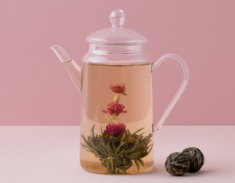 Kindred Teas - Tall Glass Teapot