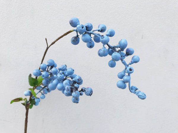 Faux Blueberries - Vintage Blue