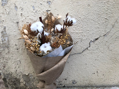 Potpourri Bouquet with Dried Cotton