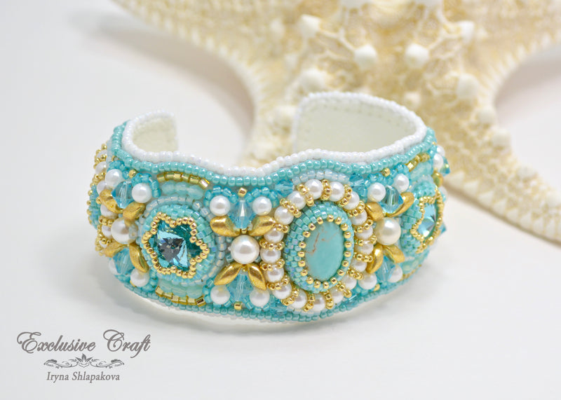 Tutorial for bead embroidered bracelet