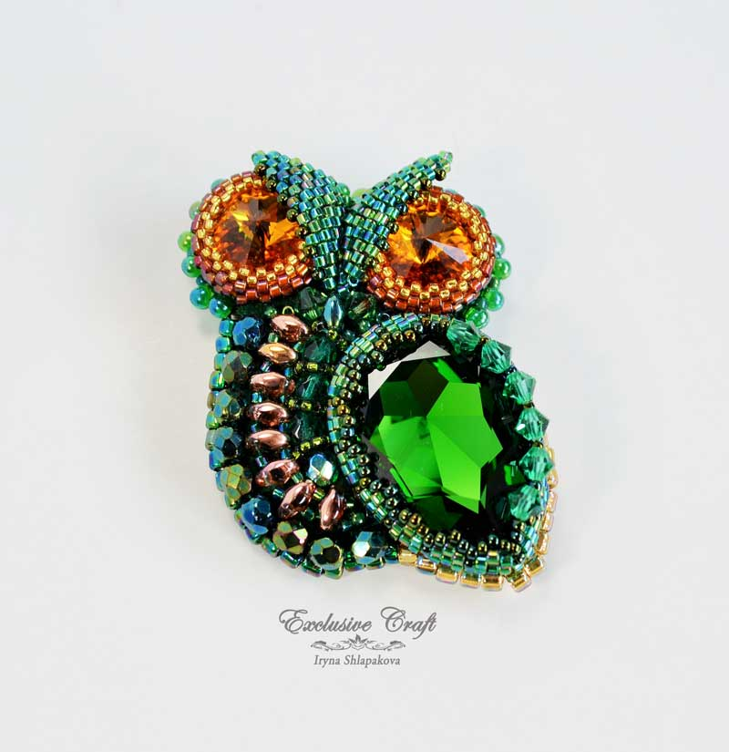 New handcrafted beaded Owl