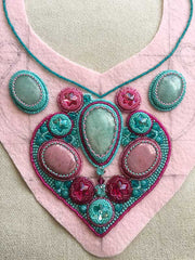 progress on necklace