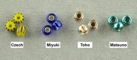 different seed beads