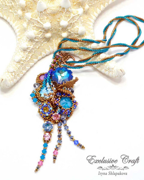 bead embroidered jewelry exclusive craft