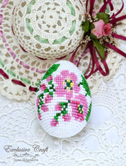 handmade beaded easter egg