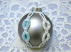 silver beaded christmas ball