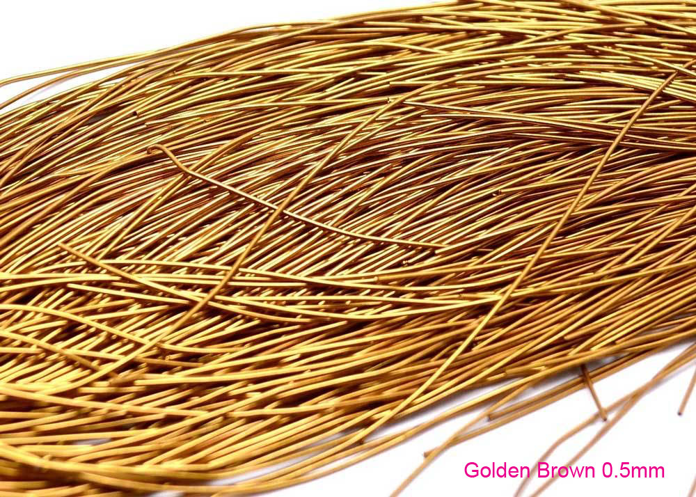 0.5mm golden brown smooth purl french wire