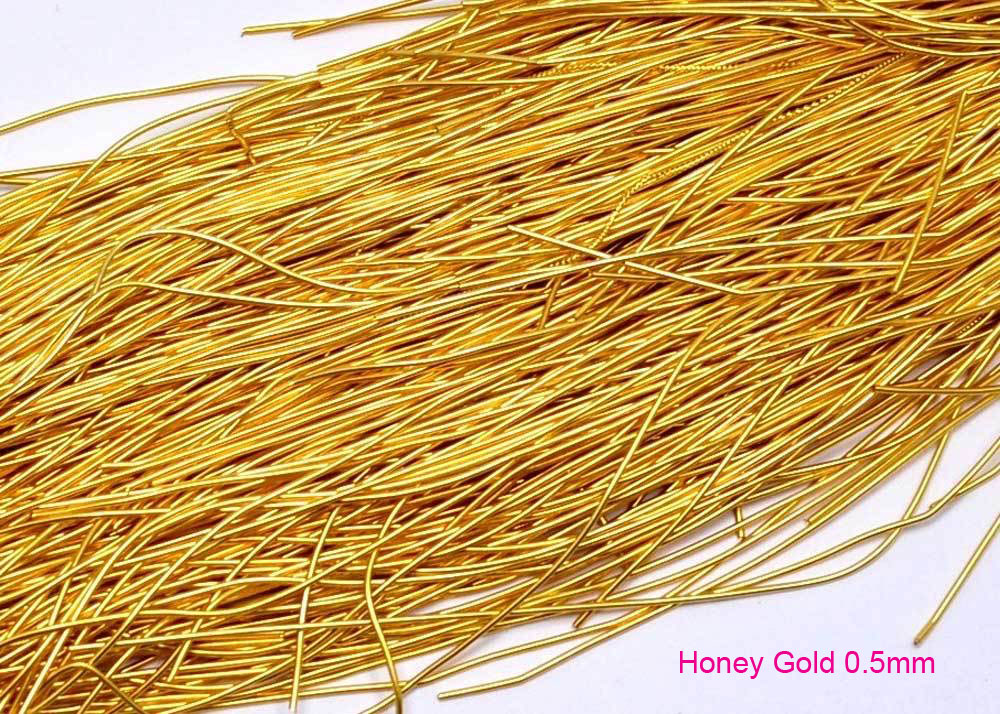 0.5mm honey gold smooth purl french wire