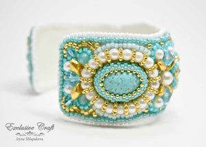 tutorial bead embroidered cuff bracelet