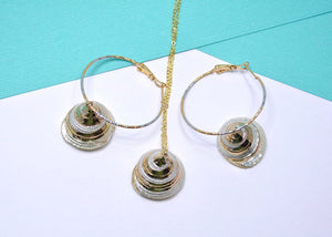 natural sea shell jewelry set