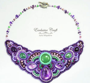 purple accessories necklace