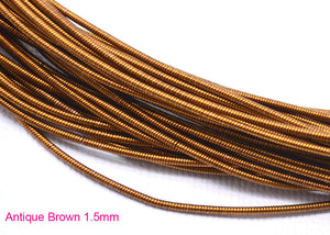 gimp french wire 1.5mm antique brown