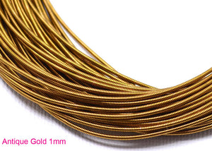 gimp french wire 1mm antique gold