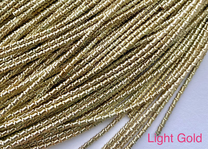 bamboo french wire light gold