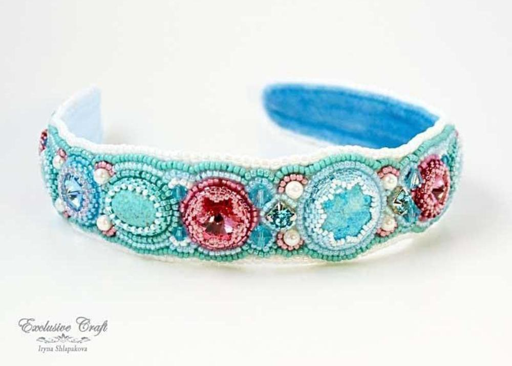 handcrafted beaded headband