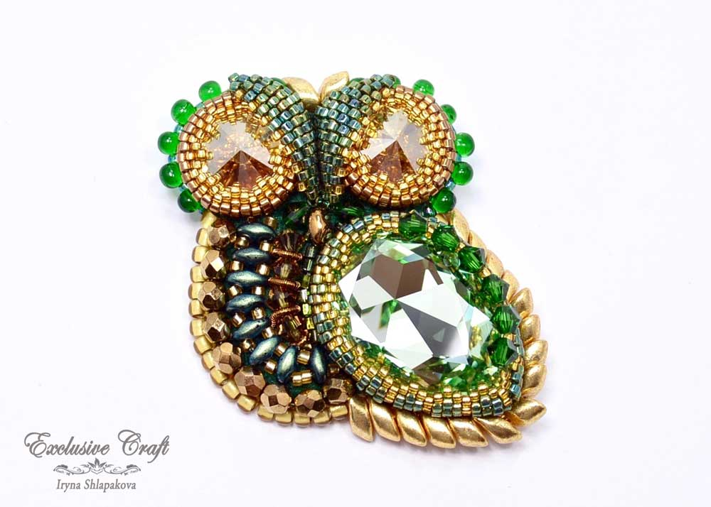 handmade beaded owl jewelry