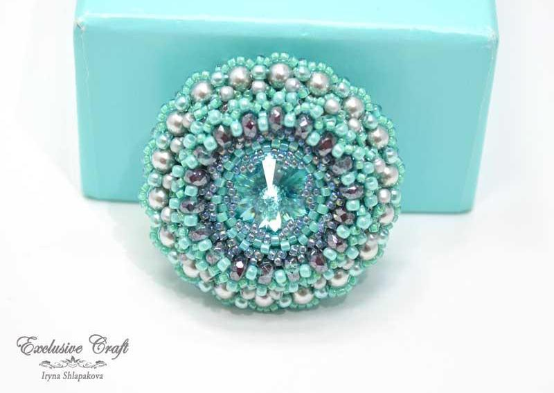 handmade artisan jewelry beaded brooch