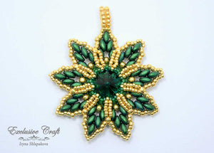 green gold swarovski christmas ornament