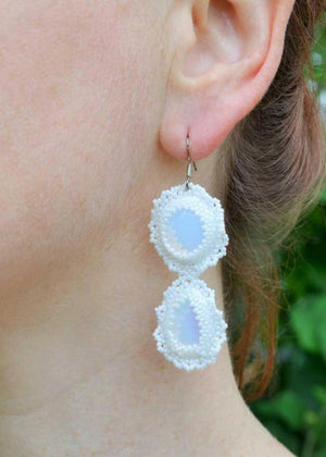 unique moonstone earrings