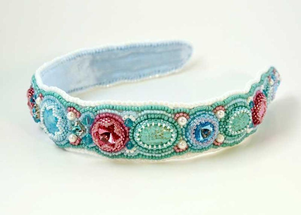 unique beaded headband