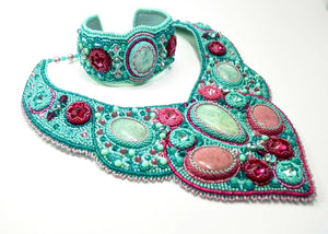 handcrafted beaded bracelet necklace
