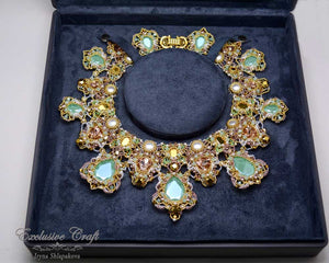 beaded royal necklace exclusive carft
