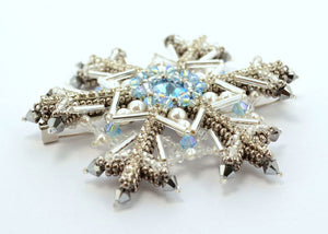 "Brooch ""Royal Snowflake"""