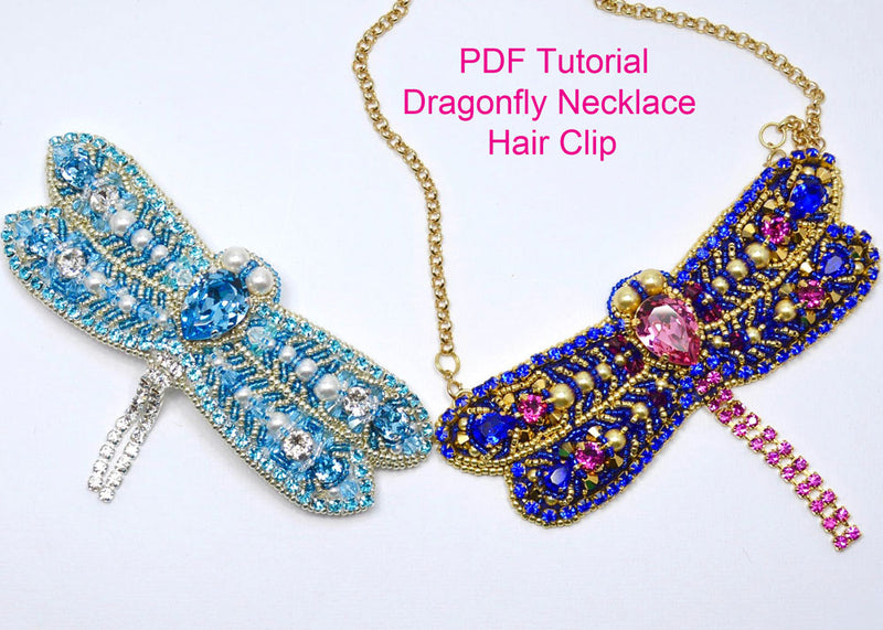beading tutorial pattern dragonfly necklace swarovski