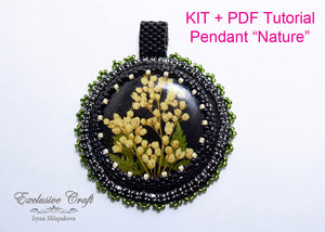 beading kit tutorial bead embroidery pendant