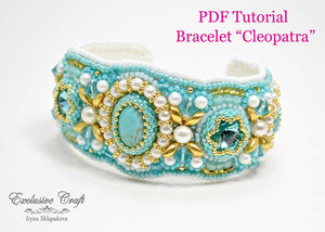 tutorial for bead embroidered cuff bracelet for beginner