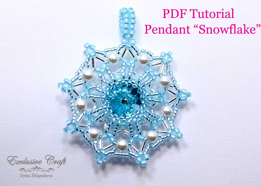 unique beading tutorial for swarovski snowflake christmas ornament and pendant