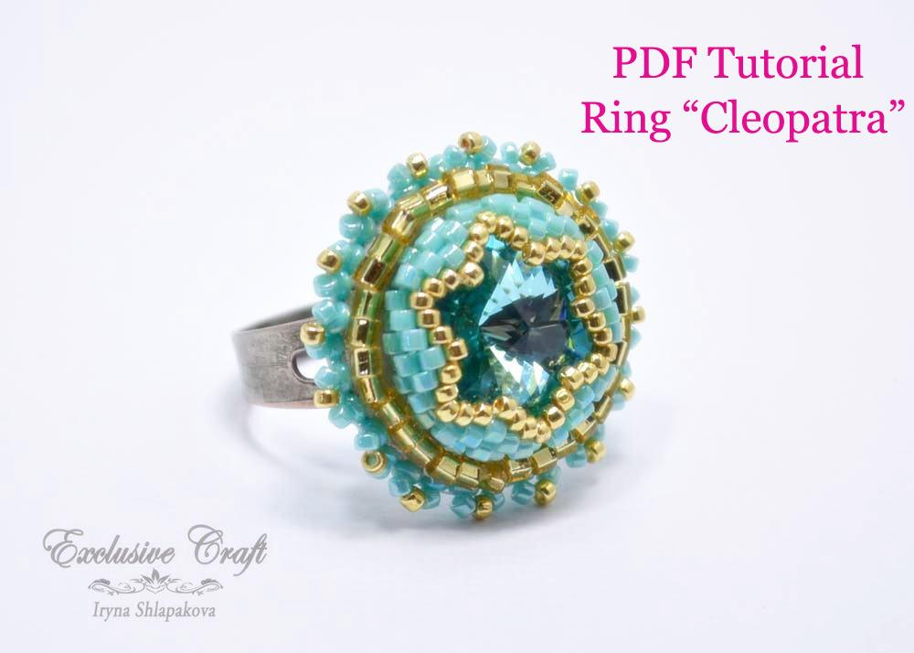 tutorial bead embroidered ring swarovski exclusive craft