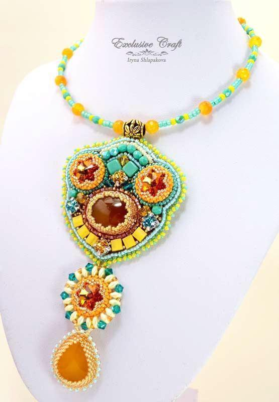 "Necklace ""Honey Tea"""