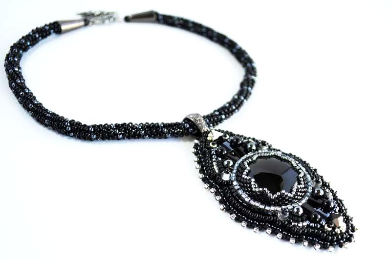 black handmade jewelry