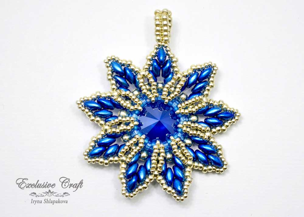 blue silver swarovski christmas ornament