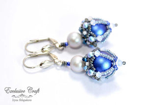 beaded earrings with swarovski