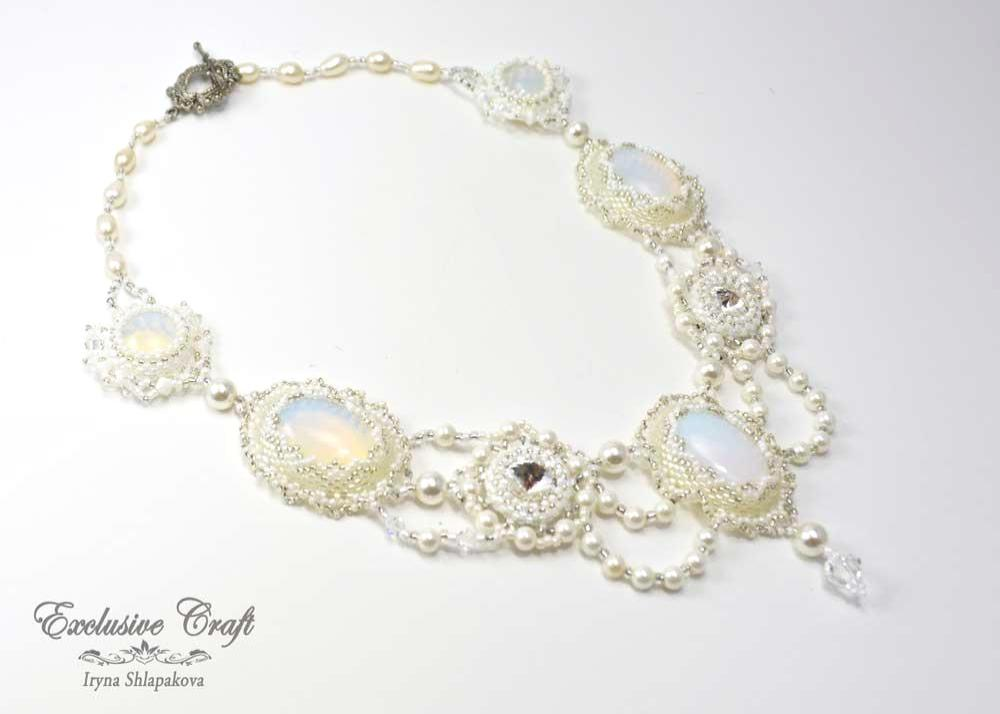 handcrafted beaded necklace bridal