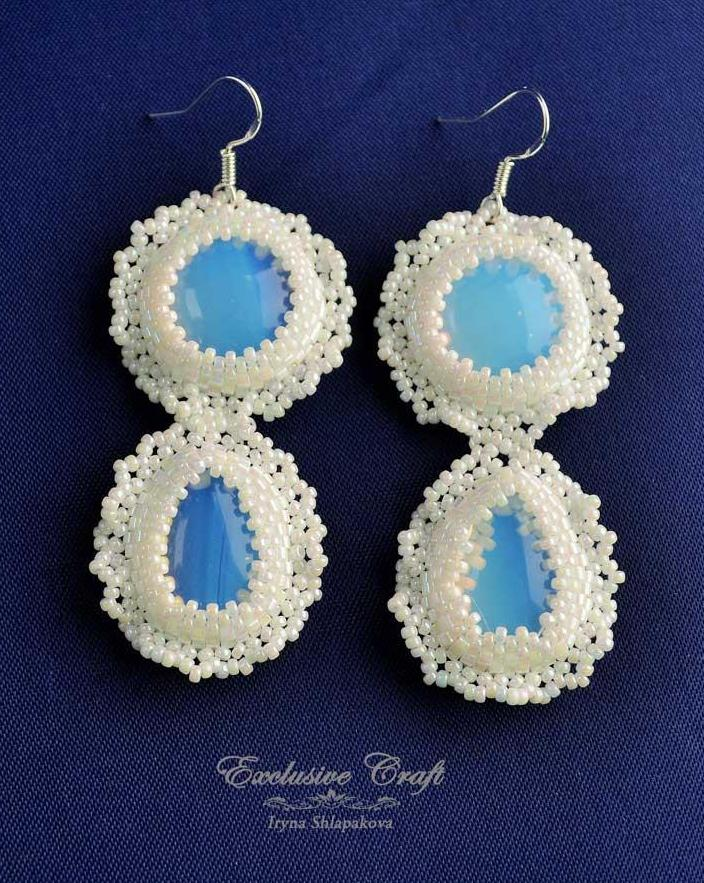 bridal earrings handmade