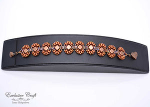 handmade bronze beaded bracelet